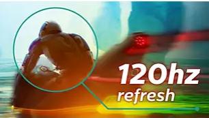 Частота обновления 120Гц обеспечивает плавный и четкий видеоряд